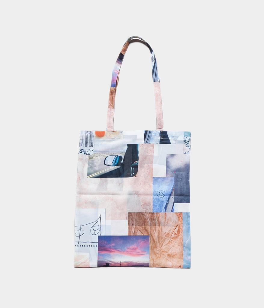 PHEENY フィーニー Print chiffon tote bag プリントシフォントートバック