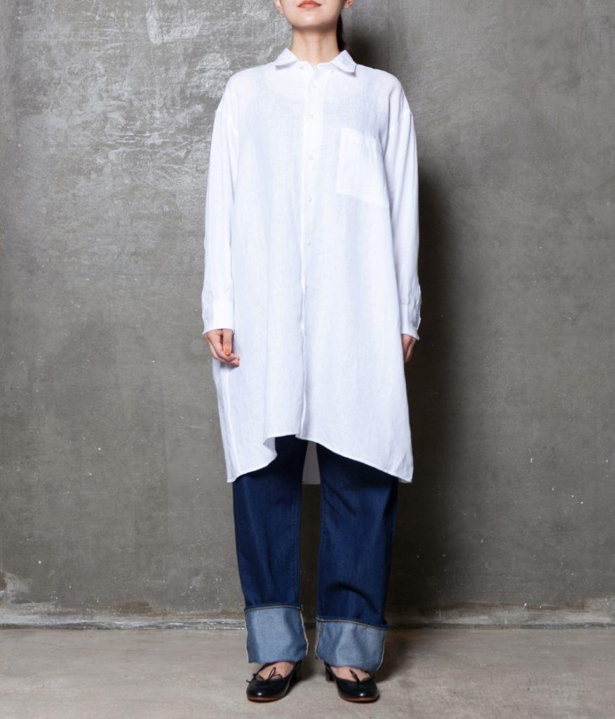 INDIVIDUALIZED SHIRTS インディビジュアライズドシャツ LINEN WIDE ONE PIECE リネンワイドワンピース