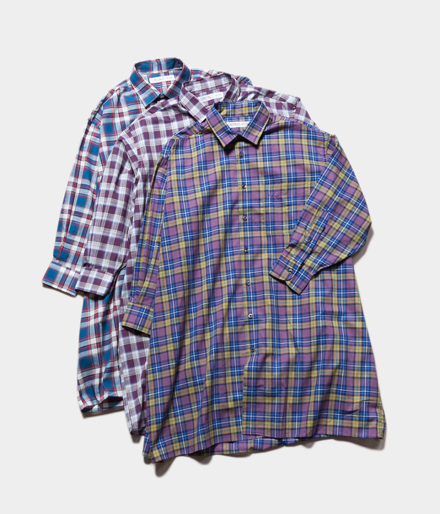 INDIVIDUALIZED SHIRTS インディビジュアライズドシャツ CHECK WIDE ONE PIECE チェックワイドワンピース