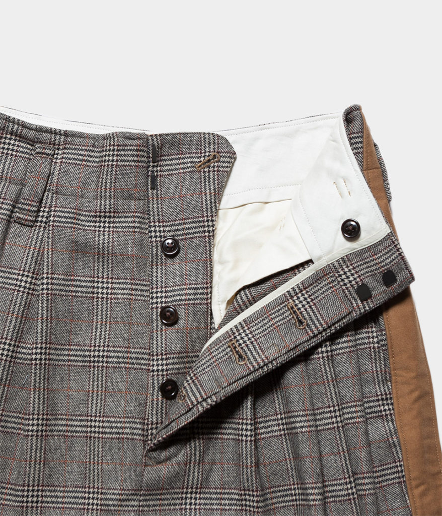unfil アンフィル geelong lambs-flannel wideleg trousers ジロンラムウールフランネルワイドトラウザー