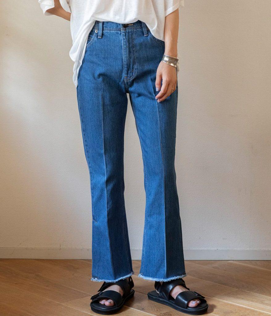 PHEENY フィーニー Vintage denim flared pants ヴィンテージデニムフレアパンツ