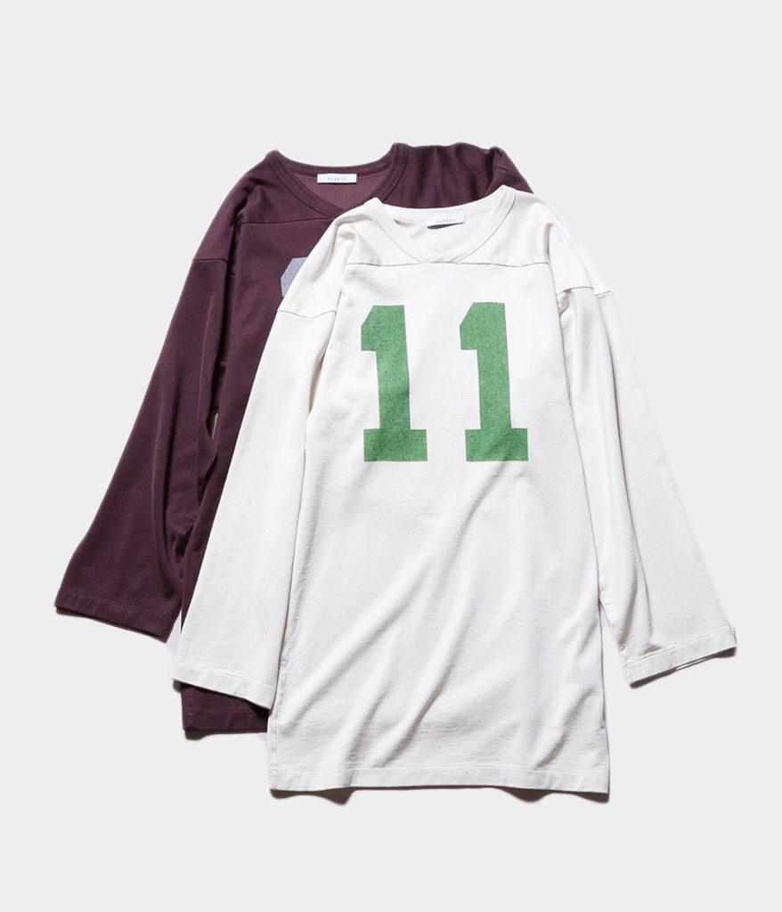PHEENY フィーニー Football L/S Tee フットボールロングスリーブTシャツ