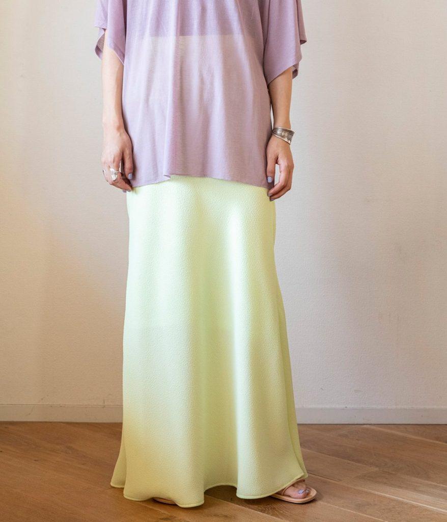 PHEENY フィーニー Dobby bias skirt ドビーバイアススカート