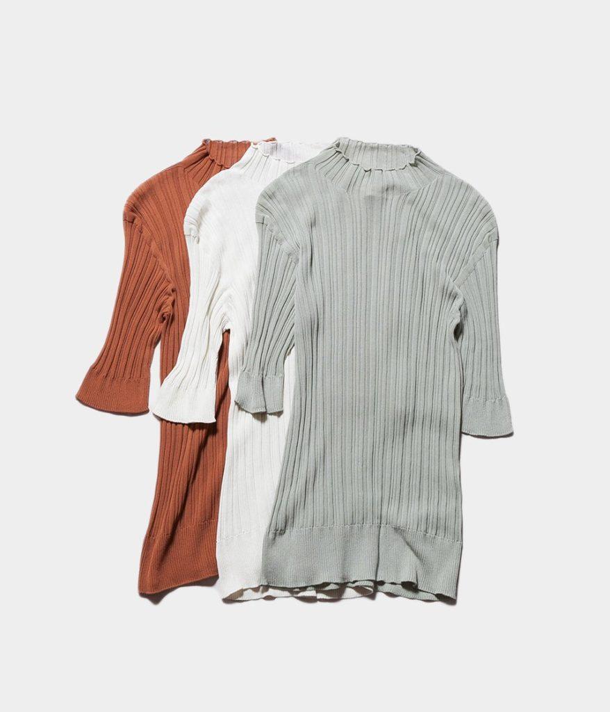 unfil アンフィル high twist cotton ribbed-knit sweater