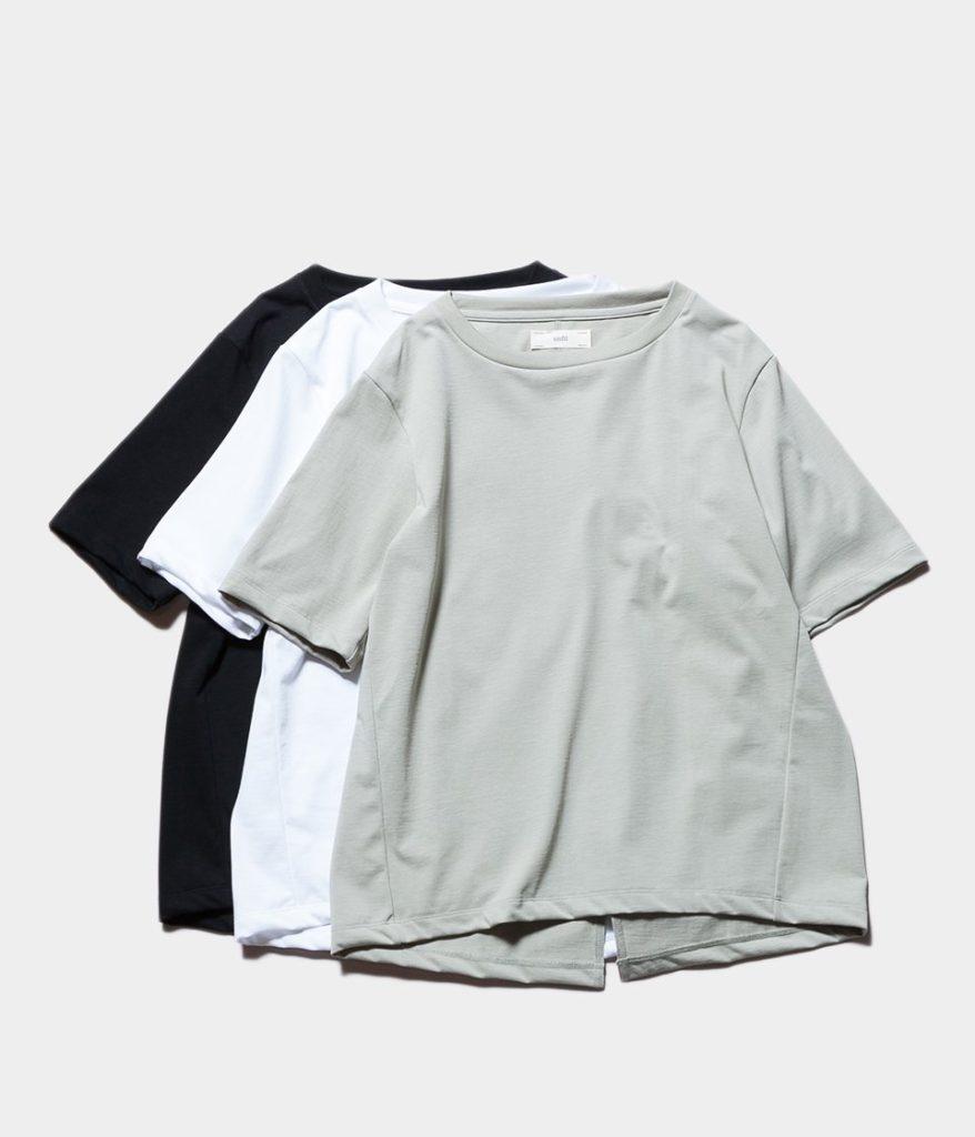unfil アンフィル organic cotton back slit Tee オーガニックコットンバックスリットTシャツ