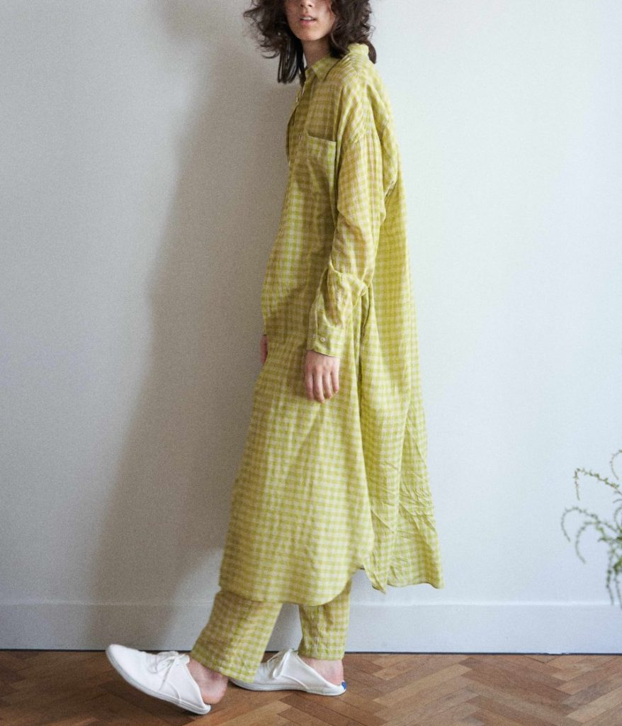 unfil アンフィル ultimate pima-voil maxi shirt dress マキシシャツドレス
