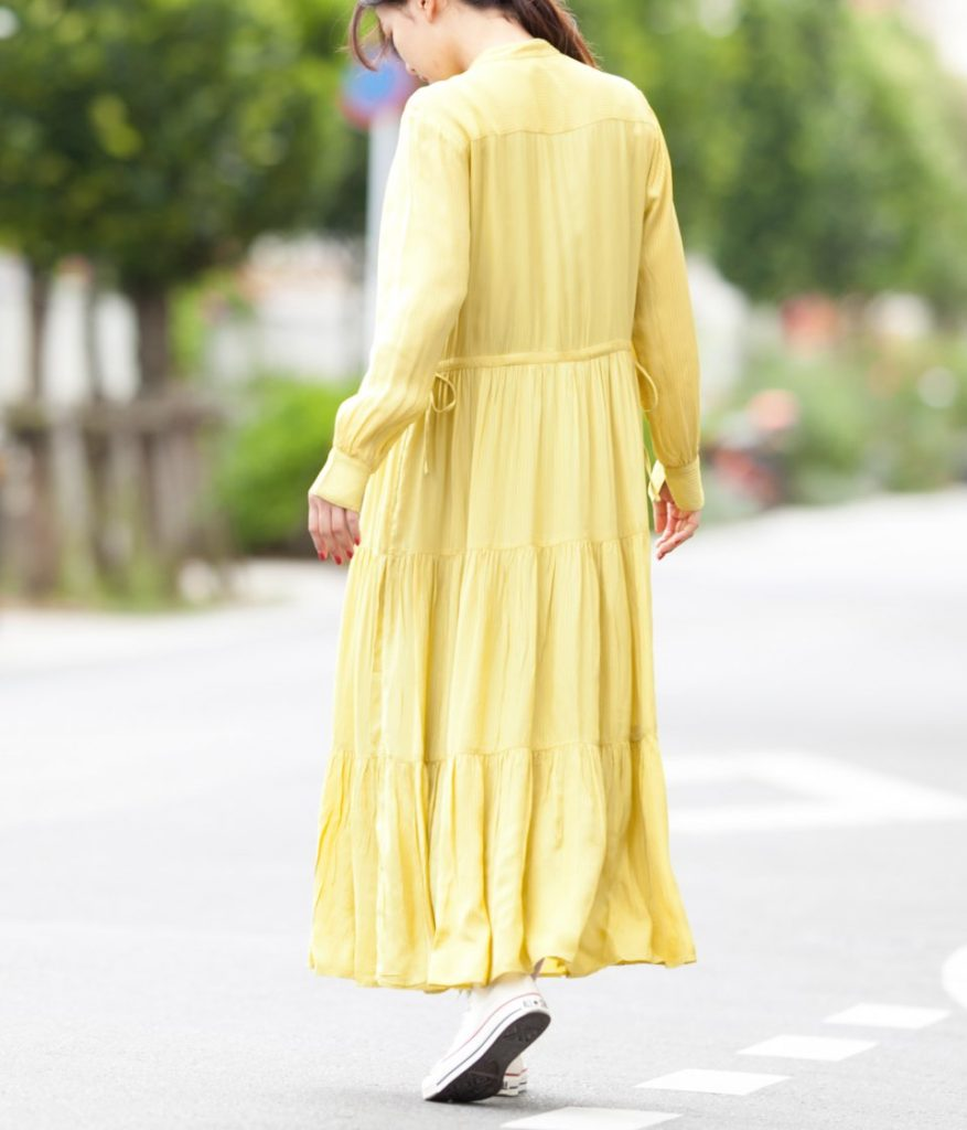ne Quittez pas ヌキテパ Rayon Stripe Shirt Dress レーヨンストライプシャツドレス