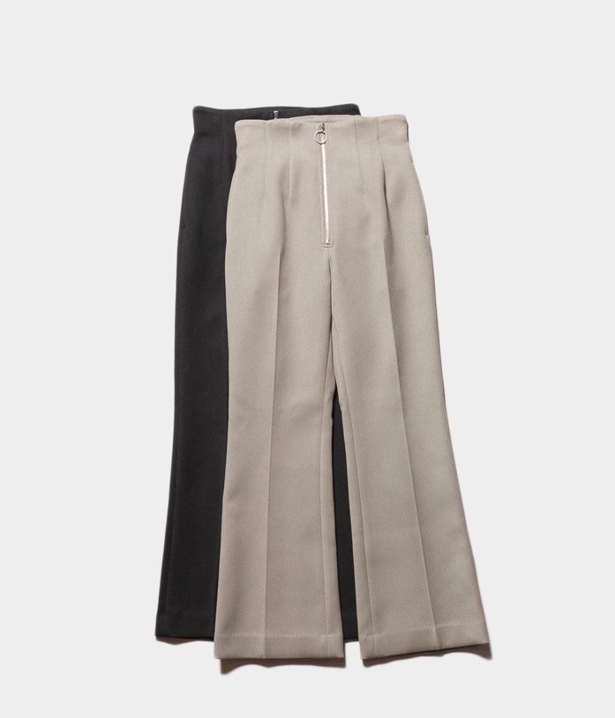 PHEENY フィーニー Kersey high waist semi flared slacks カルゼハイウエストセミフレアスラックス