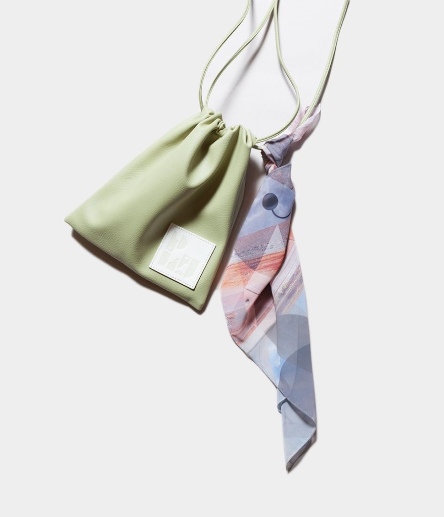 PHEENY フィーニー Print chiffon scarf regular プリントシフォンスカーフ