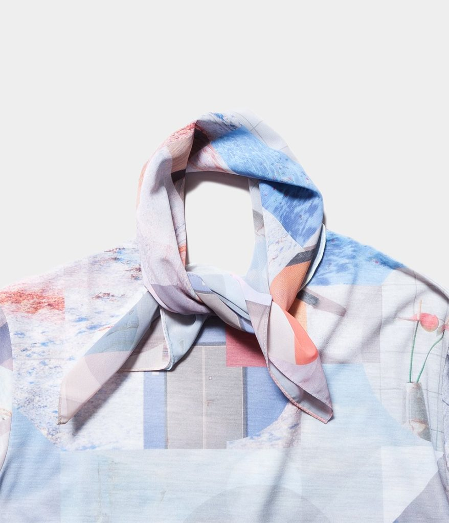PHEENY フィーニー Print chiffon scarf large プリントシフォンスカーフ