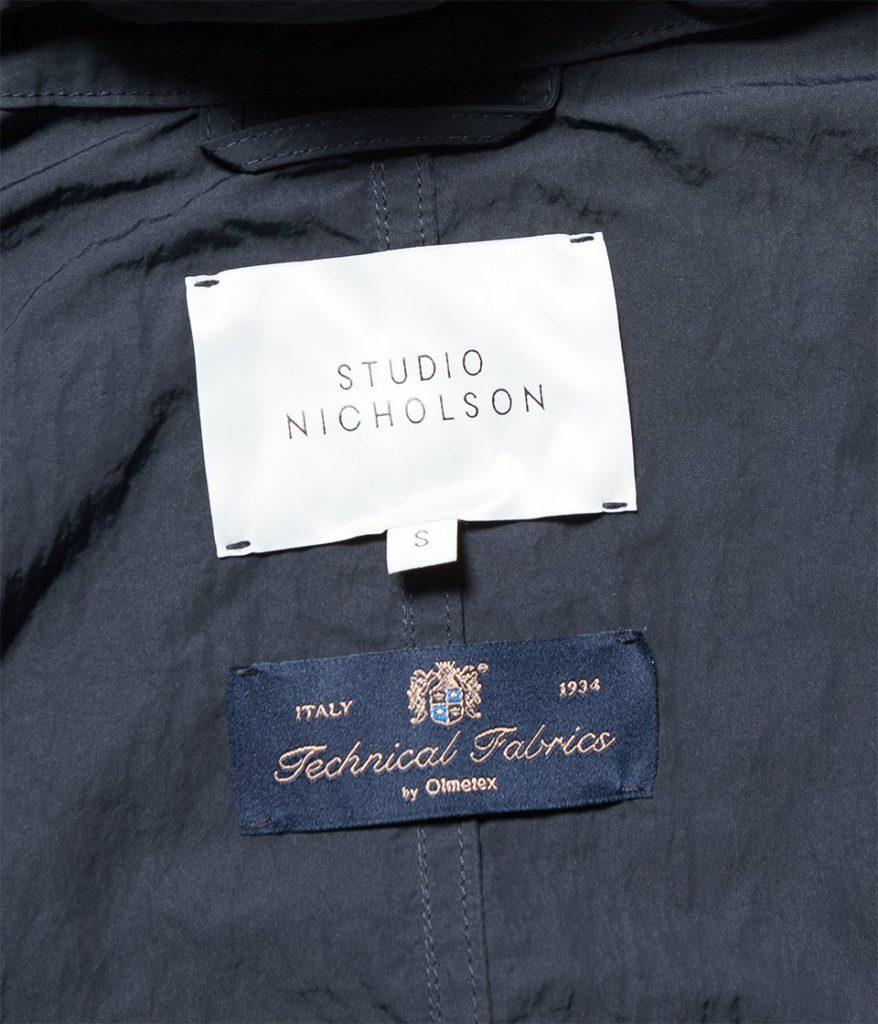 STUDIO NICHOLSON スタジオニコルソン 21AW SEPHON テクニカルファブリックフーディーコート