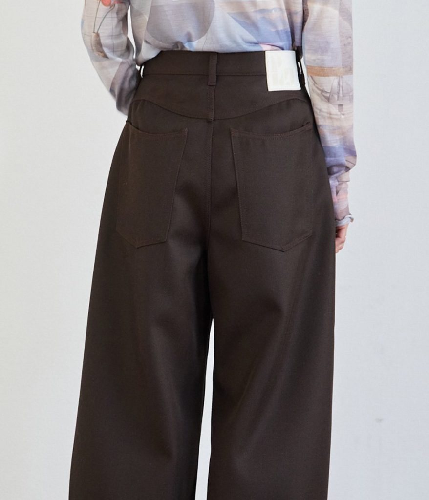 PHEENY フィーニー Hard kersey high waist ballon pants ハードカルゼハイウエストバルーンパンツ