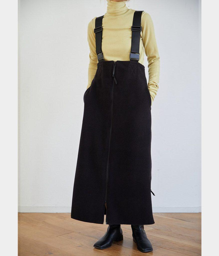 PHEENY フィーニー Polartec fleece salopette skirt ポーラテックフリースサロペットスカート